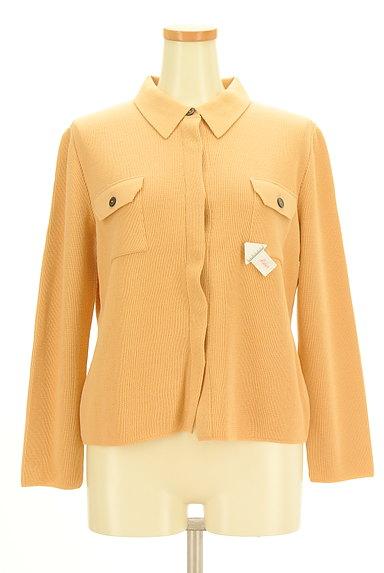 CORDIER(コルディア)の古着「襟付き比翼ニットカーディガン(カーディガン・ボレロ)」大画像4へ