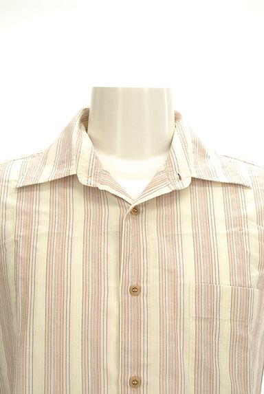 ARAMIS(アラミス)の古着「ストライプ柄コットンシャツ(カジュアルシャツ)」大画像4へ