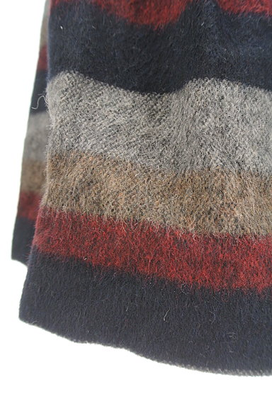 Jines(ジネス)の古着「膝丈ボーダーウールフレアスカート(スカート)」大画像5へ