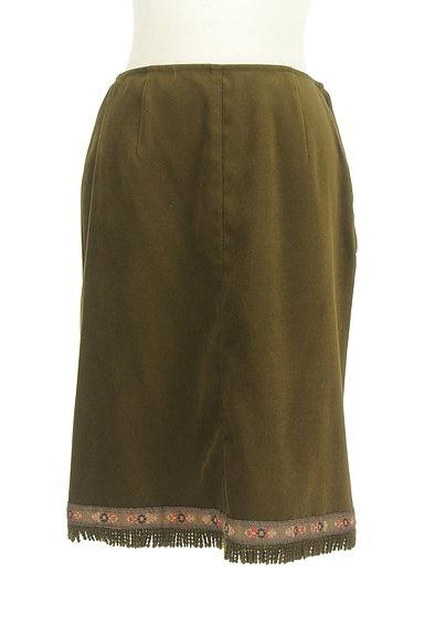 L'EST ROSE(レストローズ)の古着「膝下丈チロリアンスエードスカート(スカート)」大画像1へ