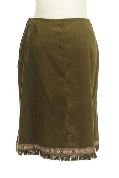 L'EST ROSE(レストローズ)の古着「膝下丈チロリアンスエードスカート(スカート)」大画像2へ