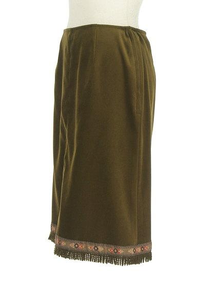 L'EST ROSE(レストローズ)の古着「膝下丈チロリアンスエードスカート(スカート)」大画像3へ