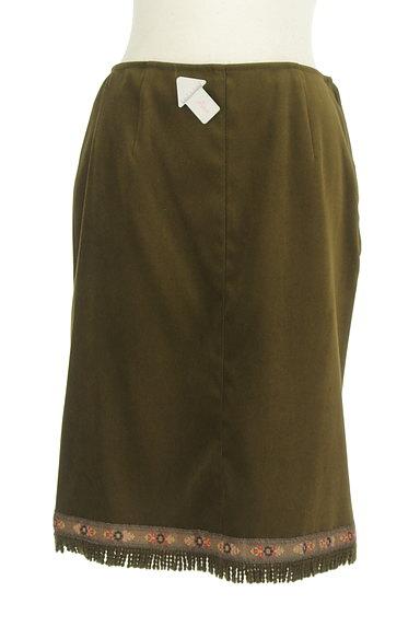 L'EST ROSE(レストローズ)の古着「膝下丈チロリアンスエードスカート(スカート)」大画像4へ