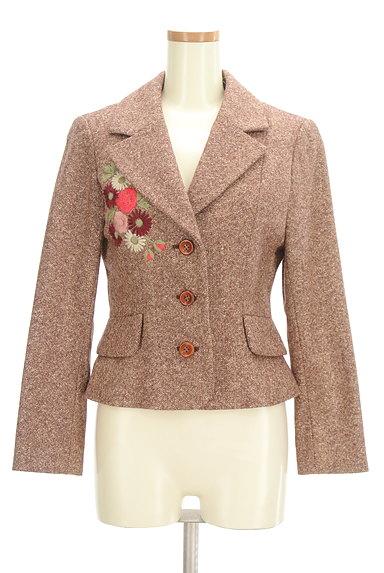 L'EST ROSE(レストローズ)の古着「花刺繍ウールジャケット(ジャケット)」大画像1へ
