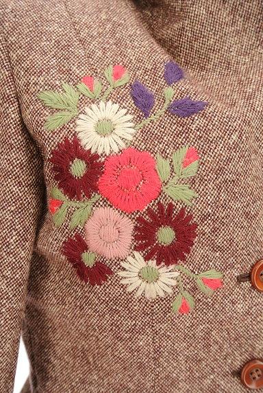 L'EST ROSE(レストローズ)の古着「花刺繍ウールジャケット(ジャケット)」大画像4へ