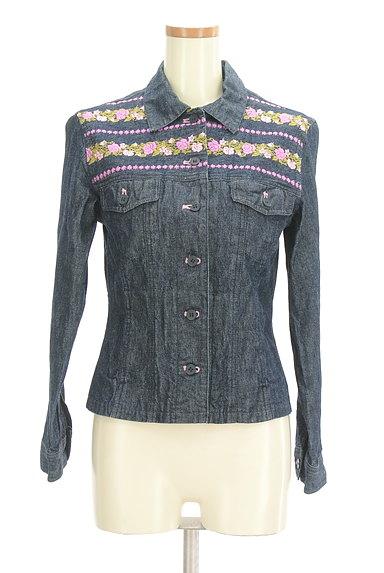 L'EST ROSE(レストローズ)の古着「花刺繍デニムジャケット(ジャケット)」大画像1へ