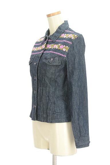 L'EST ROSE(レストローズ)の古着「花刺繍デニムジャケット(ジャケット)」大画像3へ