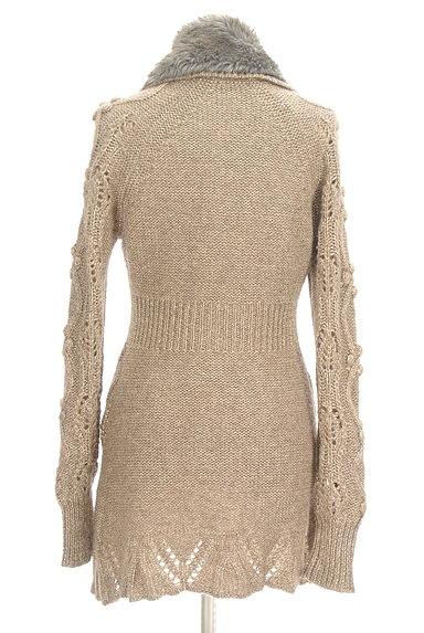 REBECCA TAYLOR(レベッカテイラー)の古着「ファー襟ラメニットロングカーディガン(カーディガン・ボレロ)」大画像2へ