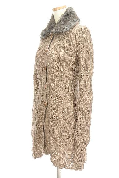 REBECCA TAYLOR(レベッカテイラー)の古着「ファー襟ラメニットロングカーディガン(カーディガン・ボレロ)」大画像3へ