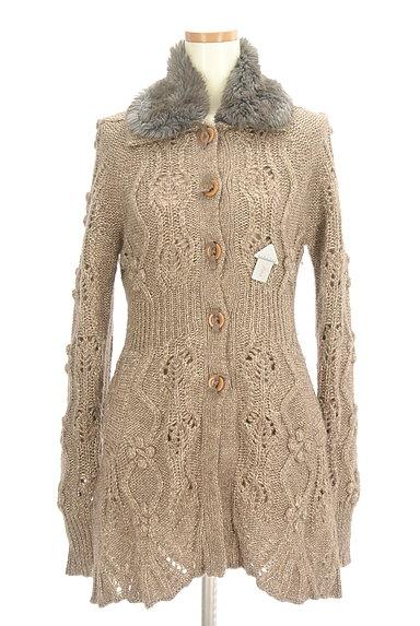 REBECCA TAYLOR(レベッカテイラー)の古着「ファー襟ラメニットロングカーディガン(カーディガン・ボレロ)」大画像4へ
