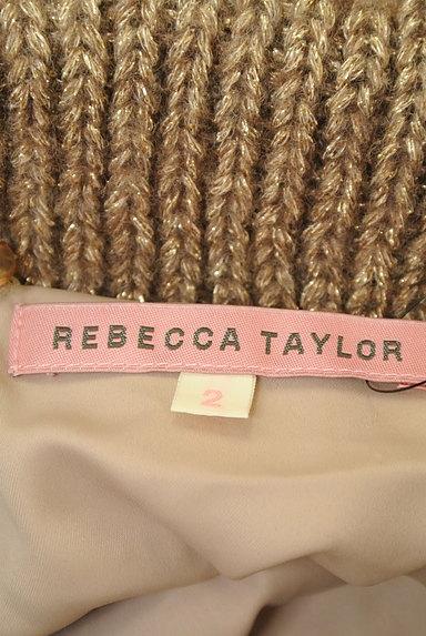 REBECCA TAYLOR(レベッカテイラー)の古着「ファー襟ラメニットロングカーディガン(カーディガン・ボレロ)」大画像6へ