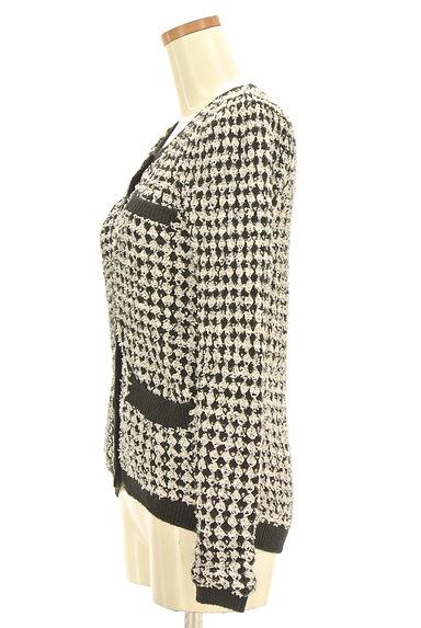 MURUA(ムルーア)の古着「ノーカラーニットジャケット(カーディガン・ボレロ)」大画像3へ