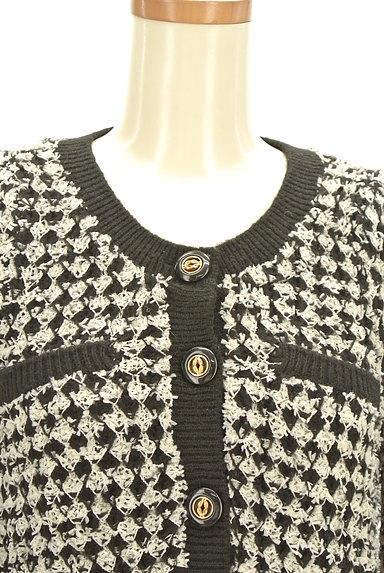 MURUA(ムルーア)の古着「ノーカラーニットジャケット(カーディガン・ボレロ)」大画像4へ