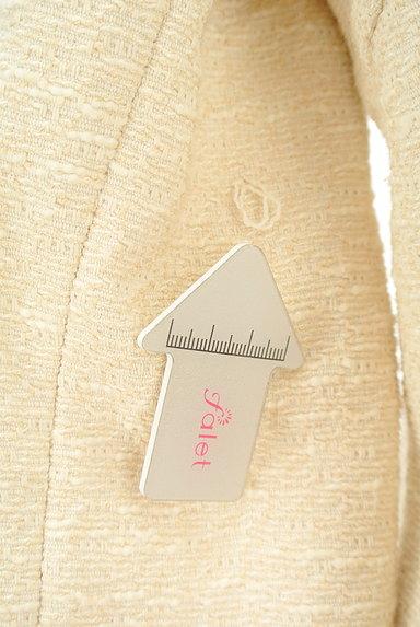 JUSGLITTY(ジャスグリッティー)の古着「ブローチ付きノーカラーロングコート(コート)」大画像5へ