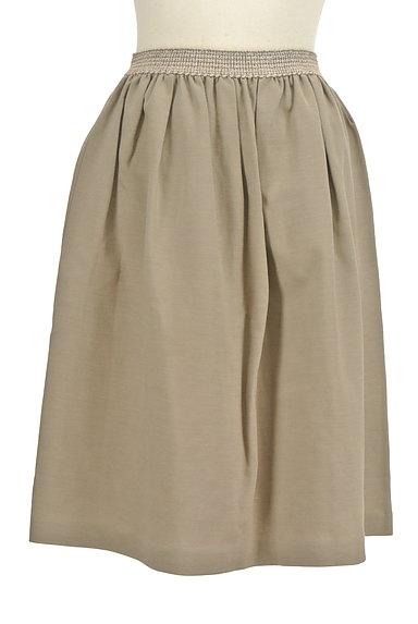 NATURAL BEAUTY(ナチュラルビューティ)の古着「膝丈リネンスカート(スカート)」大画像1へ