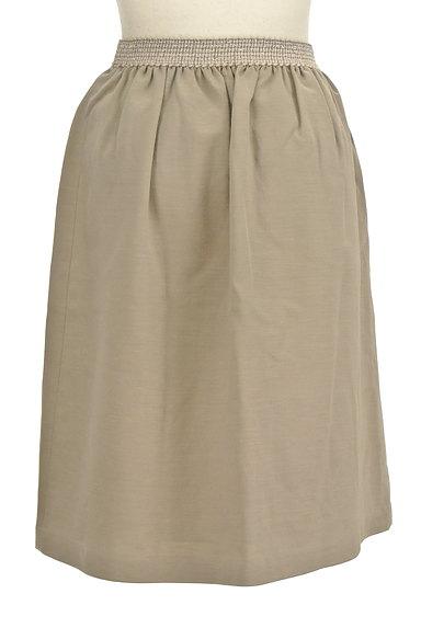 NATURAL BEAUTY(ナチュラルビューティ)の古着「膝丈リネンスカート(スカート)」大画像2へ