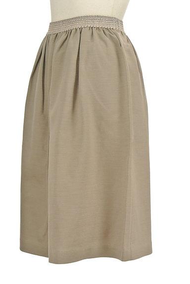 NATURAL BEAUTY(ナチュラルビューティ)の古着「膝丈リネンスカート(スカート)」大画像3へ