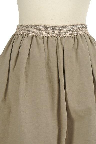 NATURAL BEAUTY(ナチュラルビューティ)の古着「膝丈リネンスカート(スカート)」大画像4へ