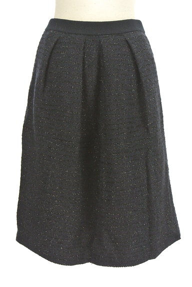 NATURAL BEAUTY(ナチュラルビューティ)の古着「ミドル丈ラメ×ウールスカート(スカート)」大画像1へ