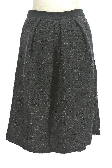 NATURAL BEAUTY(ナチュラルビューティ)の古着「ミドル丈ラメ×ウールスカート(スカート)」大画像2へ