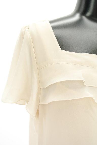 NATURAL BEAUTY(ナチュラルビューティ)の古着「シフォンフリルブラウス(カットソー・プルオーバー)」大画像4へ