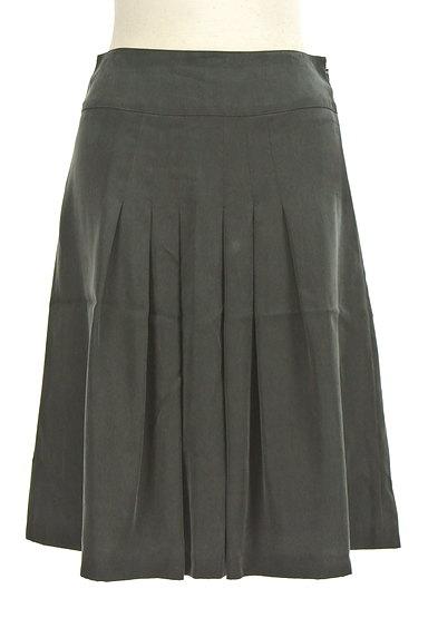 NATURAL BEAUTY(ナチュラルビューティ)の古着「マットブラックタックスカート(スカート)」大画像1へ