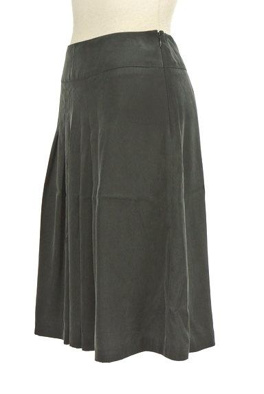 NATURAL BEAUTY(ナチュラルビューティ)の古着「マットブラックタックスカート(スカート)」大画像3へ