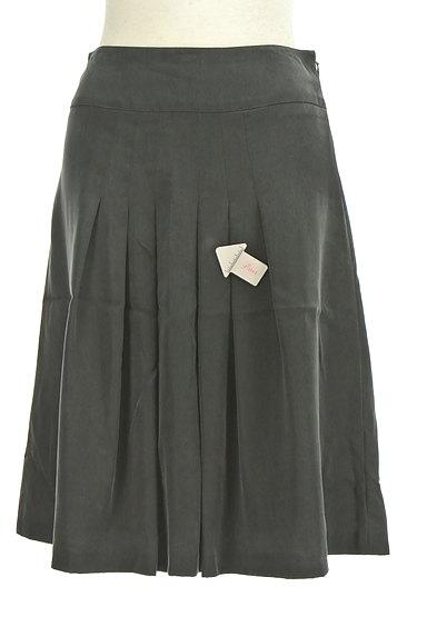 NATURAL BEAUTY(ナチュラルビューティ)の古着「マットブラックタックスカート(スカート)」大画像4へ