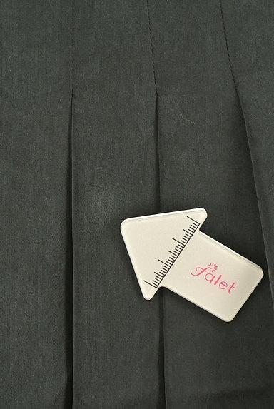 NATURAL BEAUTY(ナチュラルビューティ)の古着「マットブラックタックスカート(スカート)」大画像5へ