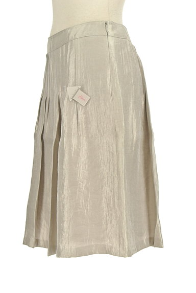 NATURAL BEAUTY(ナチュラルビューティ)の古着「シャイニータックスカート(スカート)」大画像4へ