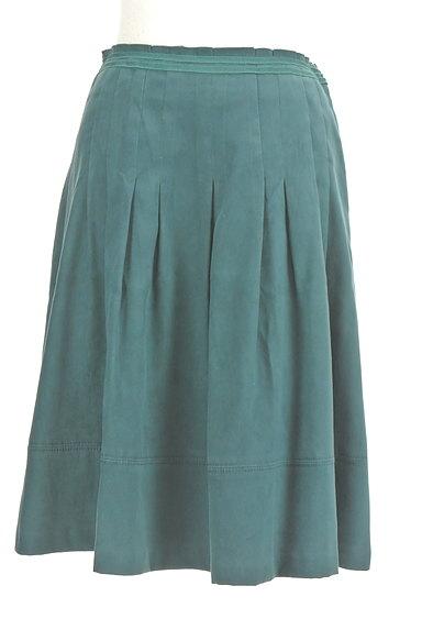 NATURAL BEAUTY(ナチュラルビューティ)の古着「スエード調タックフレアスカート(スカート)」大画像1へ