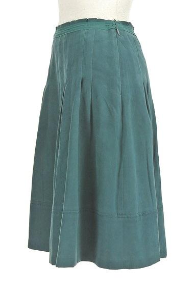 NATURAL BEAUTY(ナチュラルビューティ)の古着「スエード調タックフレアスカート(スカート)」大画像3へ