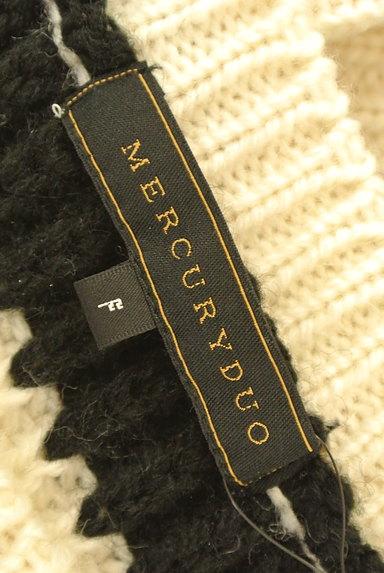 MERCURYDUO(マーキュリーデュオ)の古着「ローゲージボーダーニット(ニット)」大画像6へ
