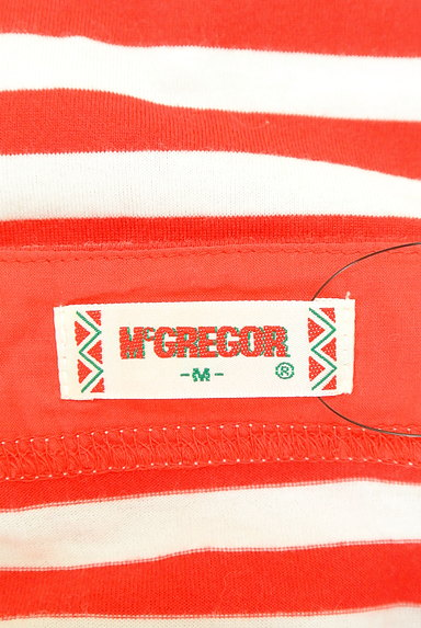 McGREGOR(マックレガー)の古着「七分袖レースアップボーダーカットソー(カットソー・プルオーバー)」大画像6へ