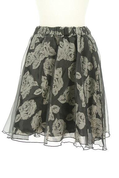 L'EST ROSE(レストローズ)の古着「シフォン×オーガンジー膝丈スカート(スカート)」大画像1へ