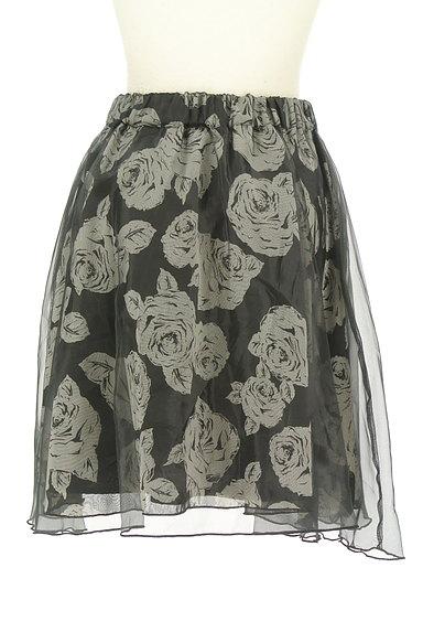 L'EST ROSE(レストローズ)の古着「シフォン×オーガンジー膝丈スカート(スカート)」大画像2へ