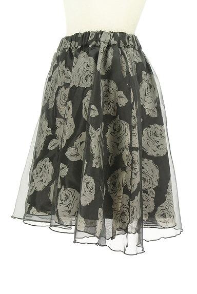 L'EST ROSE(レストローズ)の古着「シフォン×オーガンジー膝丈スカート(スカート)」大画像3へ