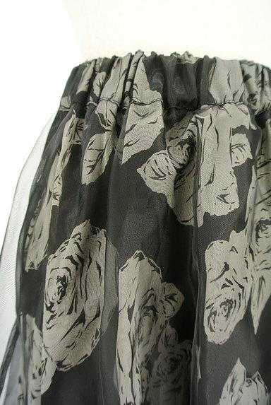 L'EST ROSE(レストローズ)の古着「シフォン×オーガンジー膝丈スカート(スカート)」大画像4へ