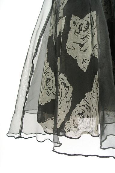 L'EST ROSE(レストローズ)の古着「シフォン×オーガンジー膝丈スカート(スカート)」大画像5へ
