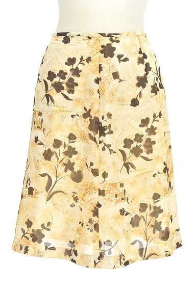 NICOLE(ニコル)の古着「膝下丈花柄フレアスカート(スカート)」大画像1へ