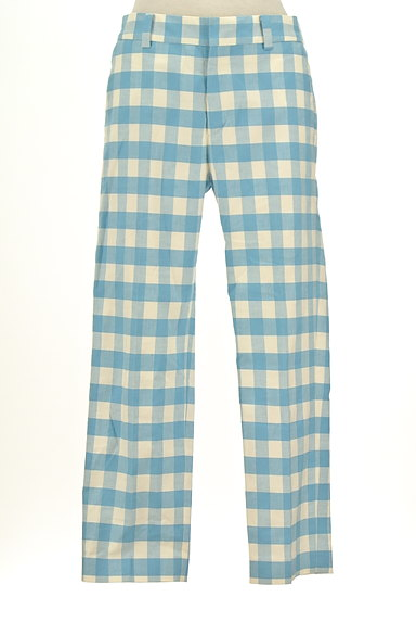 TOMORROWLAND(トゥモローランド)の古着「ギンガムチェックカラーパンツ(パンツ)」大画像1へ