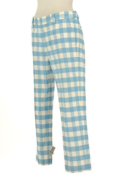 TOMORROWLAND(トゥモローランド)の古着「ギンガムチェックカラーパンツ(パンツ)」大画像4へ