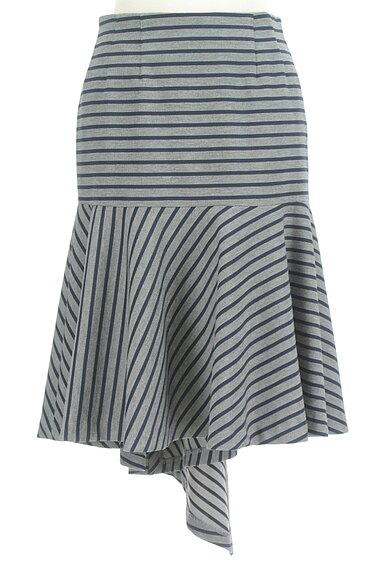 OKIRAKU(オキラク)の古着「変形ヘム切替フレアスカート(スカート)」大画像1へ