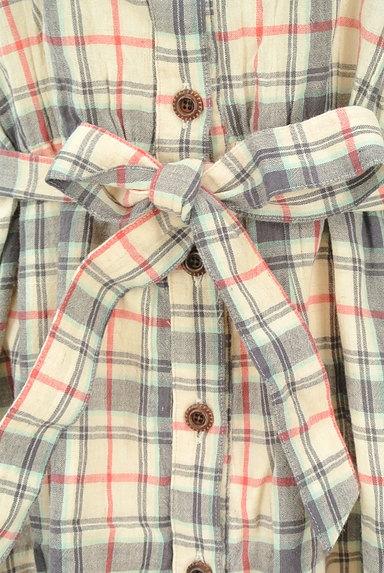 OPTITUDE(オプティチュード)の古着「チェック7分袖シャツワンピース(ワンピース・チュニック)」大画像4へ