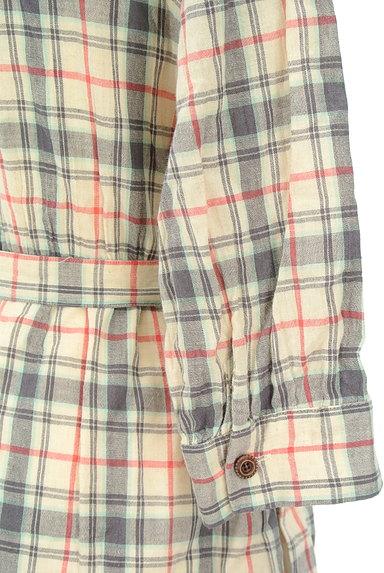 OPTITUDE(オプティチュード)の古着「チェック7分袖シャツワンピース(ワンピース・チュニック)」大画像5へ
