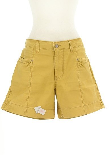 CUBE SUGAR(キューブシュガー)の古着「からし色キュロットパンツ(ショートパンツ・ハーフパンツ)」大画像4へ