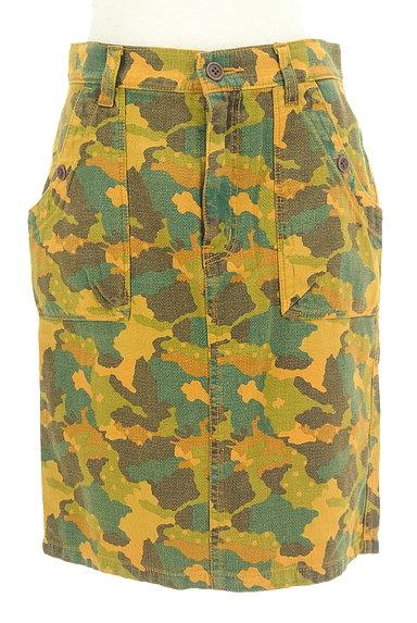 CUBE SUGAR(キューブシュガー)の古着「カモフラ柄タイトスカート(スカート)」大画像1へ