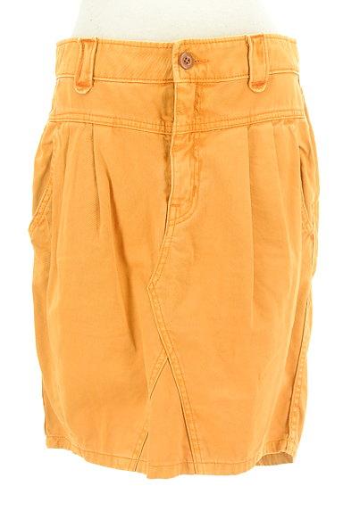 CUBE SUGAR(キューブシュガー)の古着「タックカラーデニムスカート(スカート)」大画像1へ