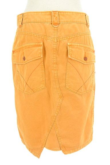 CUBE SUGAR(キューブシュガー)の古着「タックカラーデニムスカート(スカート)」大画像2へ