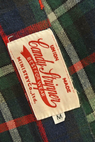Candy Stripper(キャンディストリッパー)の古着「ロゴチェック前後切替パンツ(パンツ)」大画像6へ